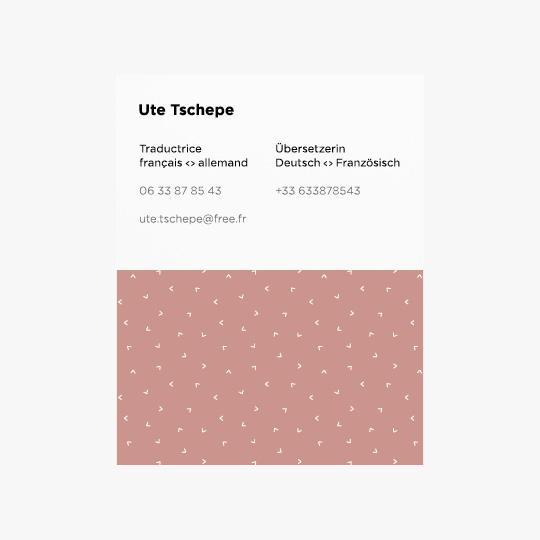 Carte de visite d'Ute Tschepe