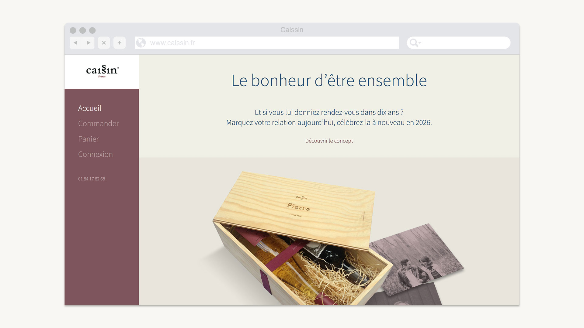 Page d'accueil du site Web
