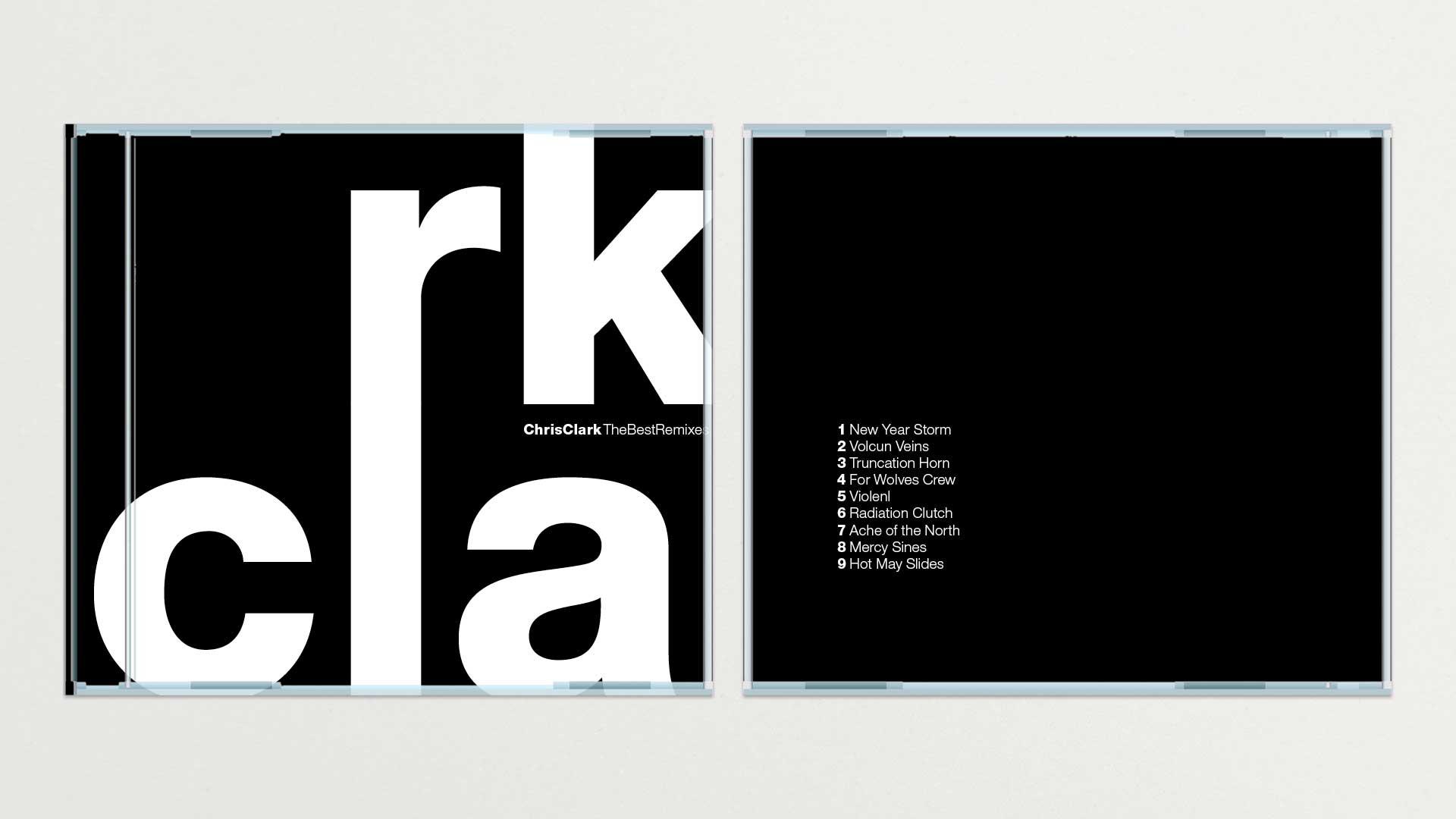 Faces avant et arrière de la pochette de CD