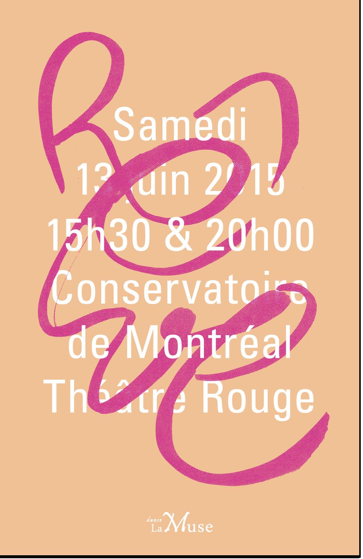 Couverture du programme du spectacle « Rêve », 2015