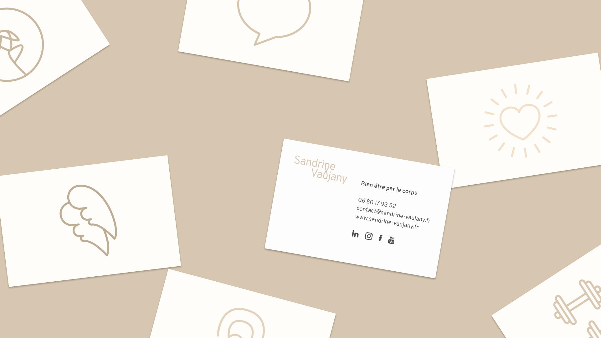 Cartes de visite de Sandrine Vaujany