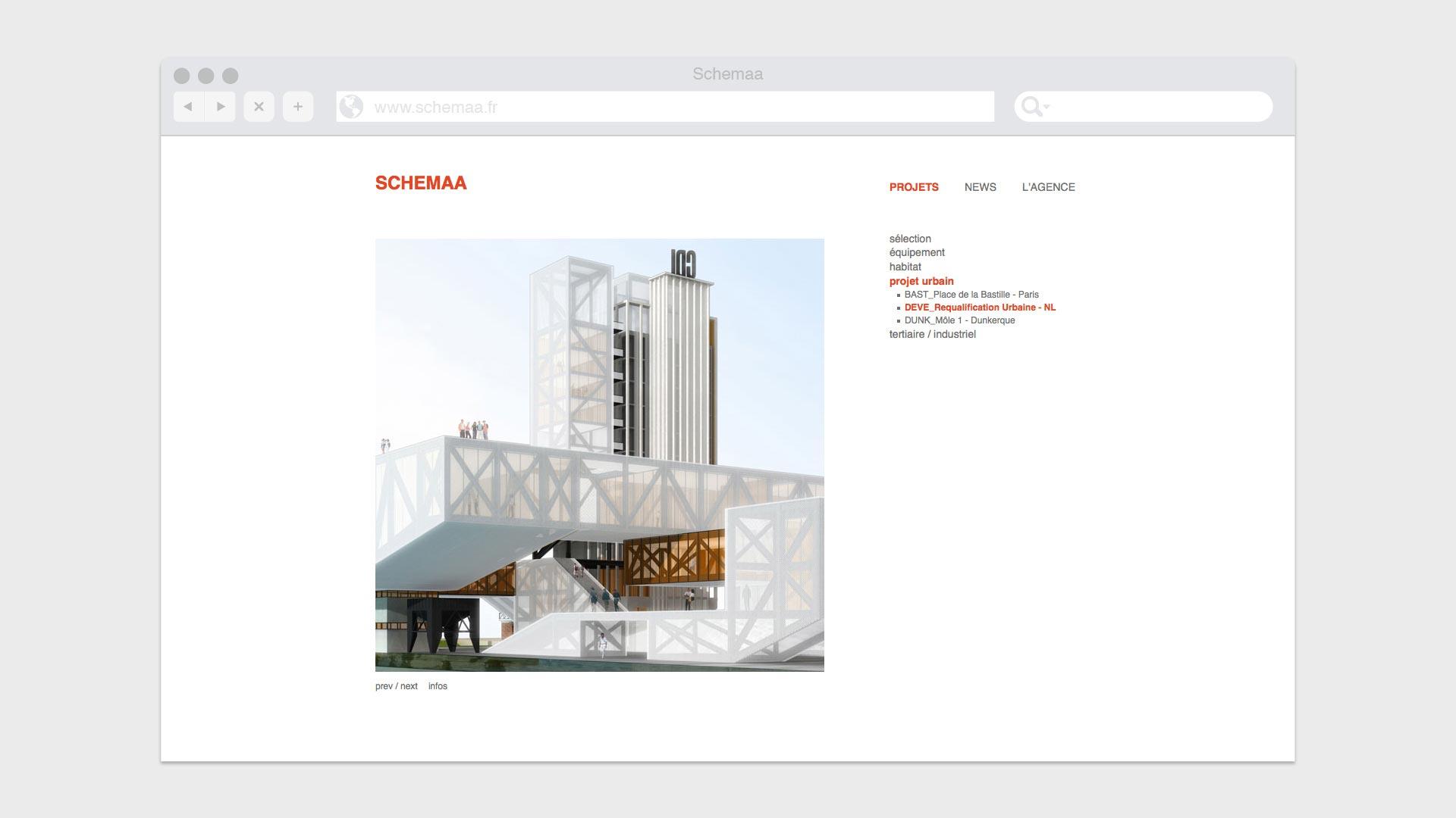Page de détail d'un projet sur le site Web