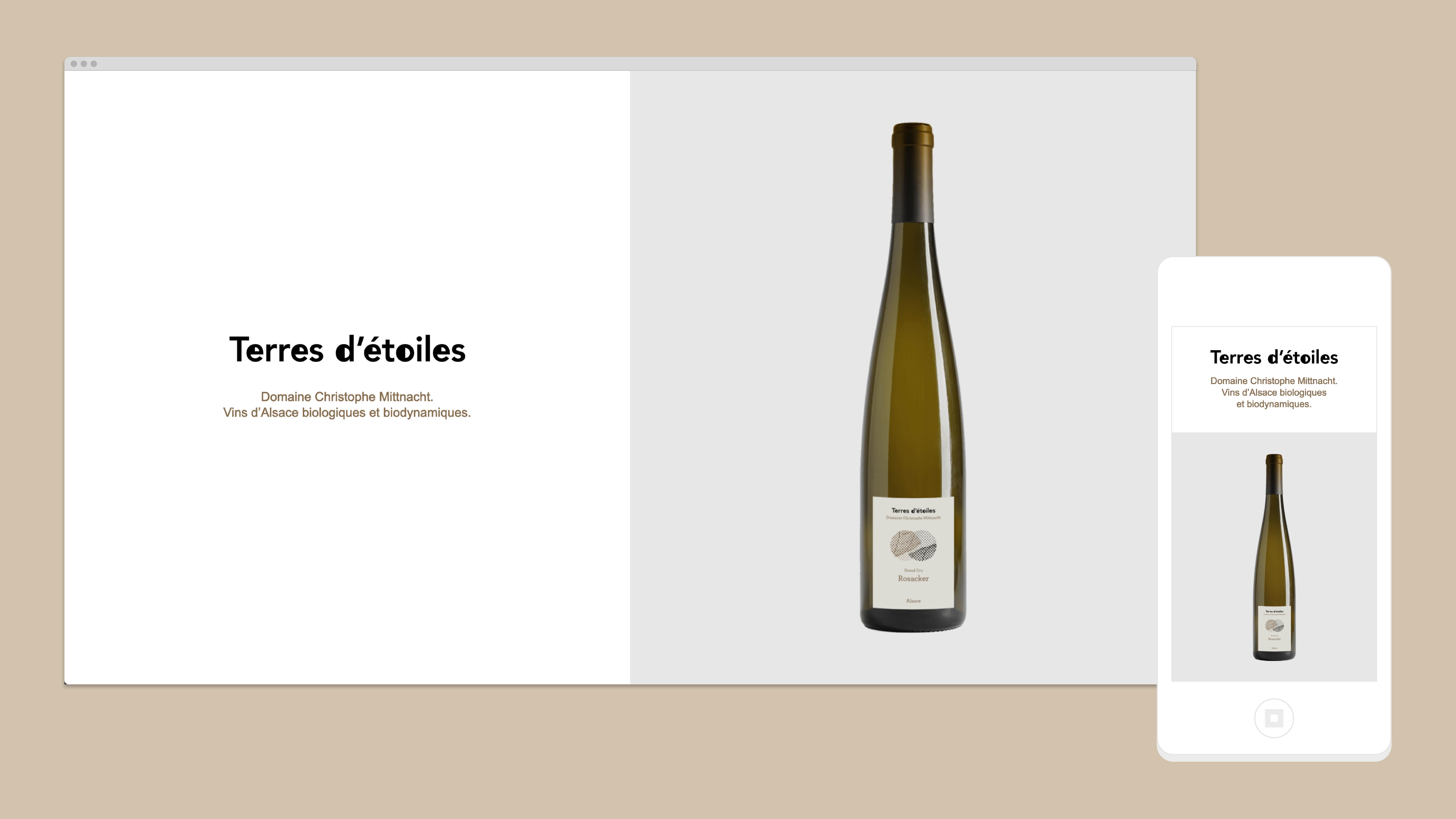 Page d'accueil du site Web Terres d'étoiles domaine Christophe Mittnacht